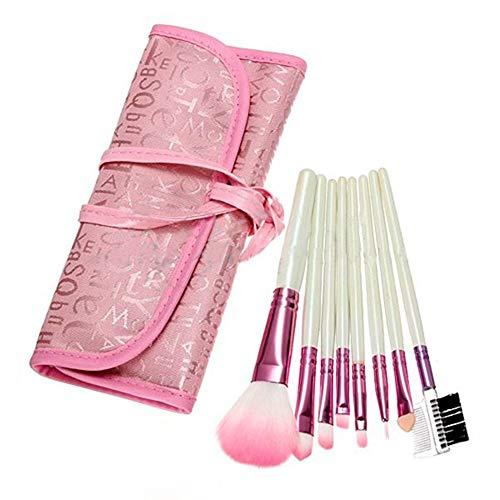 Bobopai 8 Pcs Pink Makeup Brushes Set Eyeshadow Cosmetic Kit + Pink Case -