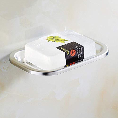 Boîte à savon articles ménagers Boîte à savon 304 en acier inoxydable sans poinçon boîte à savon vider la pile de savon pour salle de bain créatif savon net salle de bain suspendu boîte à savon Porte-