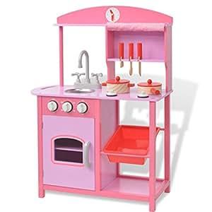 vidaxl spielzeugk che kinderk che holzk che spielk che. Black Bedroom Furniture Sets. Home Design Ideas