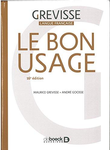 Le Bon usage par André Goosse