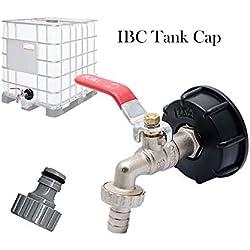 Maso S60X6 Adaptateur de réservoir de vidange IBC pour robinet de jardin en laiton avec raccord de tuyau 12,7 mm