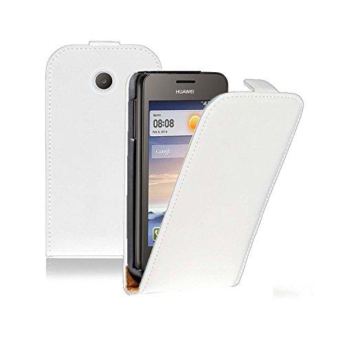 Ordica DE® Hülle Huawei Ascend Y600 Flip Case WeiB KlapeHülle mit Magnetverschluss Tasche klapphülle ständer schutzhülle