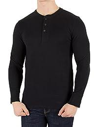 Levi's Men's Longsleeved Bryant Henley T-Shirt, Black