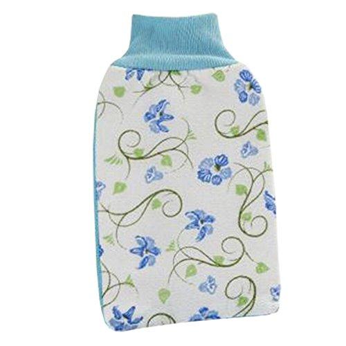Loofah éponge laveur Éponge Wash serviette de bain Gant Morning Glory Bleu