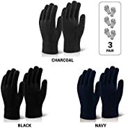 Le Gear Seamless Knitted Gloves for Protection from Sun, Dust, Pollution (3 Pair Pack)