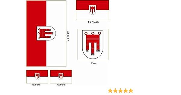 U24 Aufkleberbogen Vorarlberg Aufkleber Set Flagge Fahne Auto