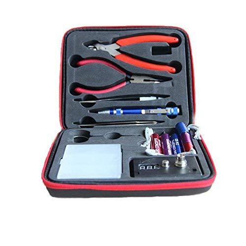 HMMJ Hausbesitzer Diy Werkzeug-Kit, 3 In 1 Coil Jig Wicklung Set + Nadel Nase Zangen + Drahtschneider + Keramik Pinzette + Scimitar Edelstahl Pinzette + Schere + Ohm-Meter-Test (Edelstahl Coil Jig)