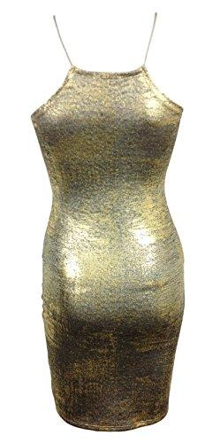Generic - Robe - Femme multicolore multicolore Doré