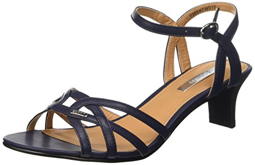 ESPRIT Birkin Sandal, Damen Knöchelriemchen Sandalen, Blau (400 navy), 39 EU