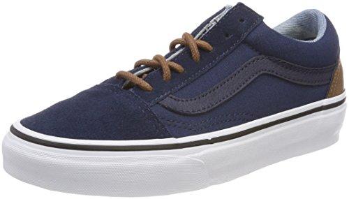 Vans Unisex-Erwachsene Old Skool Sneaker, Blau (C/Yellow), 42 EU