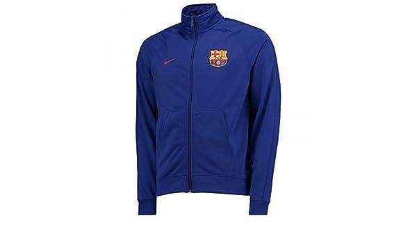 3157e48cf 2017-2018 Barcelona Nike Core Trainer Jacket (Blue) - Kids  Amazon.co.uk   Sports   Outdoors