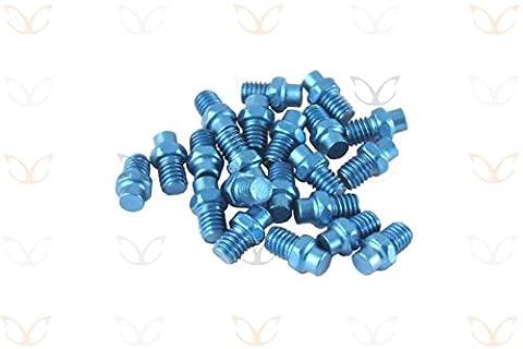 Exotic Ersatz eloxierte Legierung Pedal Pins und gratis Stiftschluessel, 10Farben Blau blau