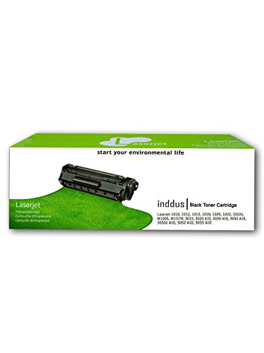 Inddus Cartridge 12A / Q2612A Cartridge - HP Compatible For Use in Laserjet 1010, 1012, 1015, 1018, 1020, 1022, 1022n, M1005 , M1319f , 3015 , 3020 AIO, 3030 AIO, 3050 AIO, 3050z AIO, 3052 AIO, 3055 AIO Single Color Toner (Black)  available at amazon for Rs.620