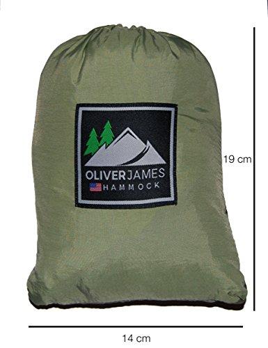 Oliver James Camping Hängematte – Ultraleichte strapazierfähige Fallschirmseide Nylon Campinghängematte - 3