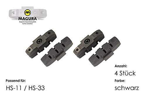 4 x MAGURA Bremsgummi schwarz hydraulische Felgenbremse HS-11 HS-33 original (Raceline Felgen)