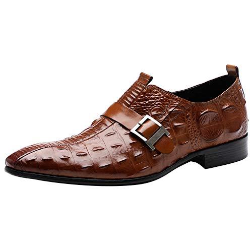 Aufzug Schuhe Mens Formal Dress Schuh Wing Tip Lace Up Slip On Fashion Oxford Lederschuhe für Männer,2,43 (Schnürsenkel Dress Schuhe Schwarz Mens)