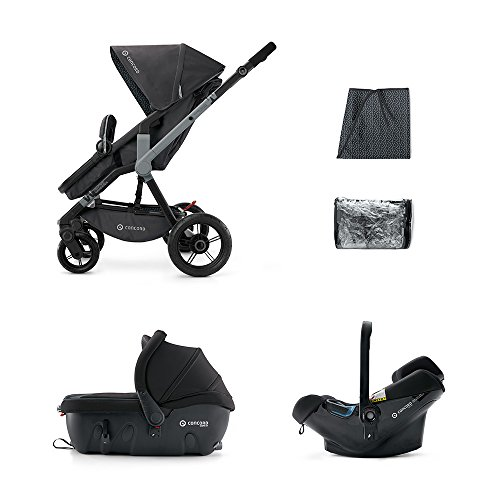 CONCORD KINDERWAGENSET TRAVEL-SET WANDERER AIR-SLEEPER, RAVEN BLACK, KOLLEKTION 2015