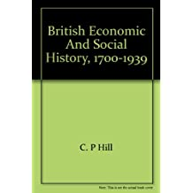 British economic and social history, 1700-1939