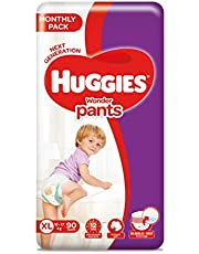 Huggies Wonder Pants Mega Jumbo Pack Extra Large Size Diapers, 90 Count