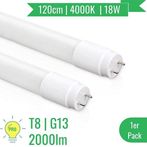 [PRO] OUBO® LED Leuchtstoffröhre | T8 Tube | G13 Scokel | 18 Watt | Naturweiß 4000K | Abstrahlwinkel 270° | Nanoröhren | inkl. LED Starter | für Deckenleuchte Rasterleuchte