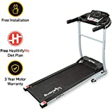 Lifelong FitPro LLTM09 (2.5 HP Peak) Motorized Treadmill with 12 Preset workouts, Heart Rate Sensor, Speakers, HealthifyMe Diet Plan, Max Speed 10km/hr (Free Installation)