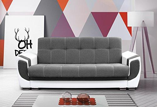 mb-moebel Modernes Sofa Schlafsofa Kippsofa mit Schlaffunktion Klappsofa Bettfunktion mit Bettkasten Couchgarnitur Couch Sofagarnitur 3er Lilly