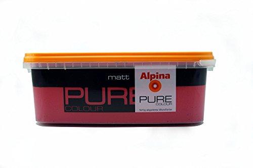 ALPINA Pure Colour, 2,5 L. Wandfarbe, Berry Matt/2,5 Liter für ca. 20-25 m² Bei einmaligem Anstrich
