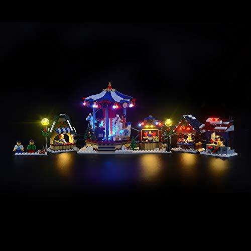 LIGHTAILING Conjunto de Luces (Creator Expert Winter Village Market) Modelo de Construcción de Bloques - Kit de luz LED Compatible con Lego 10235(NO Incluido en el Modelo)