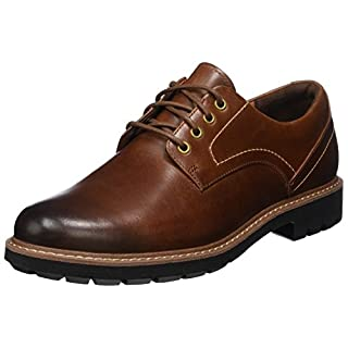 Clarks Herren Batcombe Hall Derbys, Braun (Dark Tan Lea), 44 EU