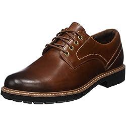 Clarks Batcombe Hall Derby - Zapatos de Cordones para Hombre, Marrón (Dark Tan Lea), 41.5 EU
