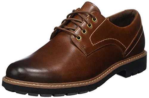 Clarks Herren Batcombe Hall Derbys, Braun (Dark Tan Lea), 42 EU