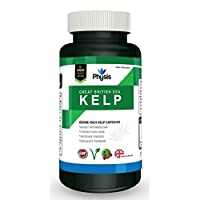 Physis Great British Sea Kelp | Ethically Sourced | High Strength 600mg | Rich In Vitamins And Nutrients | Aids Weight-Loss | Reduces Fat Absorption | Nourishes And Moisturises Skin | Anti-Ageing | Improves Energy | Balances Body PH | Suitable For Men and Women | 1 Month Supply | 100% Money Back Gua