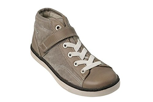 Vado Jungen Stiefel, Schn?rhalbschuhe silver grey, 580106-9 grau