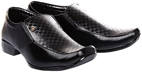 Trilokani Good Premium Quality Comfortable Daily Formal Wear Black Shoes for kids Boys