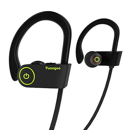 Écouteur Bluetooth HolyHigh Yuanguo2 Casque Sans Fil Sport Oreillette Intra-Auriculaire Anti-bruit avec Micro/Etanche de l'Eau IP67/HD Stéréo/Anti Sueur avec 8 Heures d'Autonomie pour Smartphone