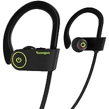 Auriculares Bluetooth HolyHigh Yuanguo2 Los mejores auriculares inalámbricos deportivos Casco Mini Inalámbrico In-Ear Estéreo con Micrófono Incorporado y Cancelación de Ruido de Apoyo Manos Libres para Moviles iPhone Samsung y Andriod Teléfonos