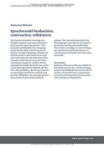 Sprachwandel beobachten, untersuchen, reflektieren: Was Sprachgeschichte für den gymnasialen Deutschunterricht leisten kann (Germanistik - Didaktik - Unterricht, Band 19) - Bild 2