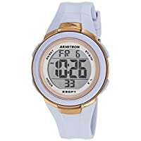 Armitron Sport Women's Digital Powder Blue Resin Strap Watch, 45/7126PBL