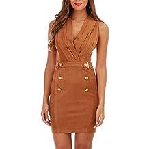 La Modeuse - Robe blazer camel à boutons style officier ... 4485d75d857