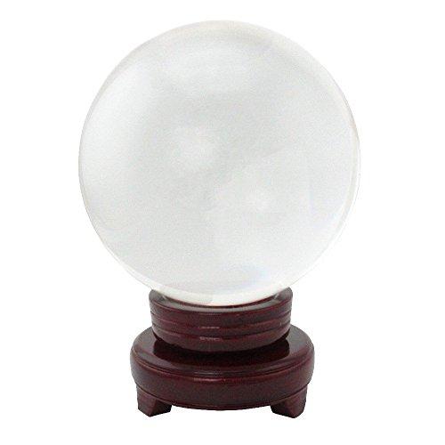 Glaskugel klar Kristallglas Kugel mit Ständer (Durchmesser 15 cm)