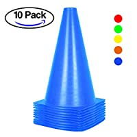 10 Pack Traffic Cones for Kids - 9 inch Soccer Trainning Cones for Outdoor Activity & Festive Events