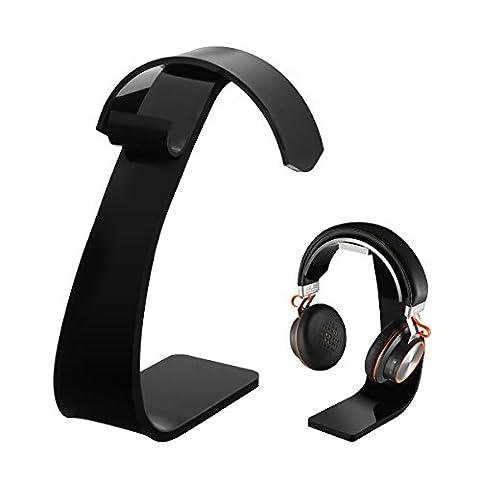 Headset Halterung Kopfhörerhalterung mit Kabelhalterung, ELEGIANT Universal Acrylic Kopfhörerhalter Kopfhörerstand Professionelle Gaming Headset Kopfhörer Ständer Ohrhörer Halter Aufsteller Stand Standplatz Aufhänger Acryl Earphone Headphones Hanger Holder für alle Headset Kopfhörer