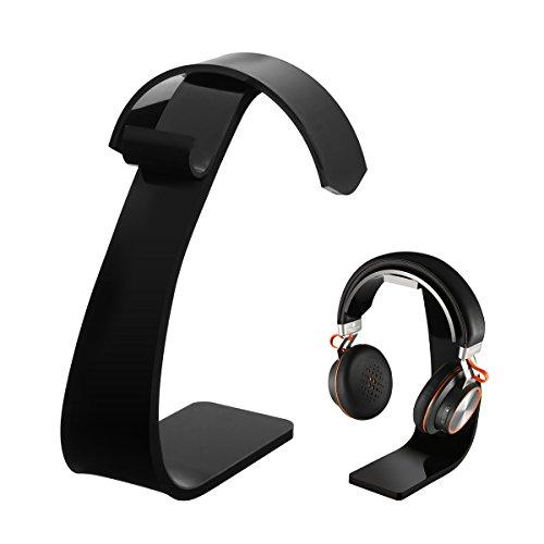 Headset Halterung, ELEGIANT Kopfhörer Ständer Kopfhörerstand Headsethalter mit Kabelhalterung Universaler Headset ständer Professioneller Kopfhörerhalter Headphone halterung Ohrhörer Halter Headphones holder aus Acrylic für alle Headset Kopfhörer