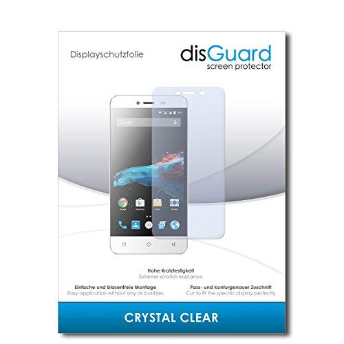 disGuard® Bildschirmschutzfolie [Crystal Clear] kompatibel mit Phicomm Energy 2 [2 Stück] Kristallklar, Transparent, Unsichtbar, Extrem Kratzfest, Anti-Fingerabdruck - Panzerglas Folie, Schutzfolie