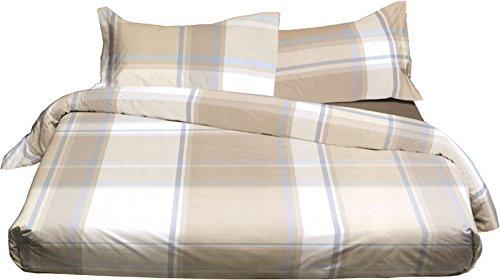 Bettbezug Zenith 7244Doppelbett–(Sack cm.255x 200+ Klappe Umschlag = 240+ 2Kissenbezüge cm.50x 80) ohne Bettlaken