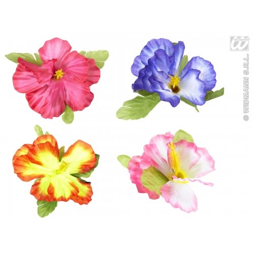 Hibiscus Flower Hair (Hibiscus Flower Hair Clips 4 Colors Ass)