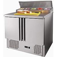 ZORRO - Zubereitungstisch ZTHPS200-2 Türen - Kühltisch mit GN Einlass - Salatkühlung - Gastro Belegstation