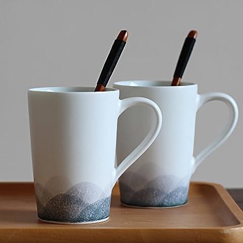 La porcellana dipinta a mano teacups tazza calda personalità minimalista