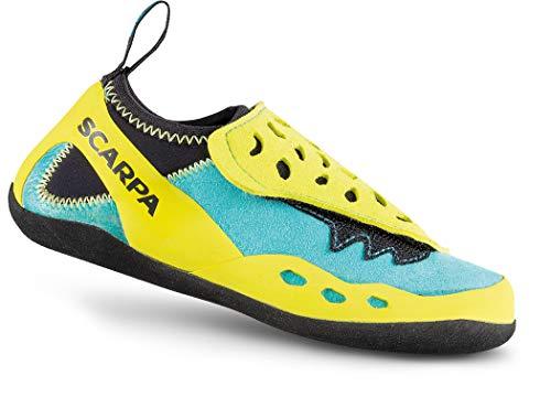 Scarpa Piki J Climbing Shoes Kinder maledive/Yellow Schuhgröße EU 35-36 2019 Kletterschuhe