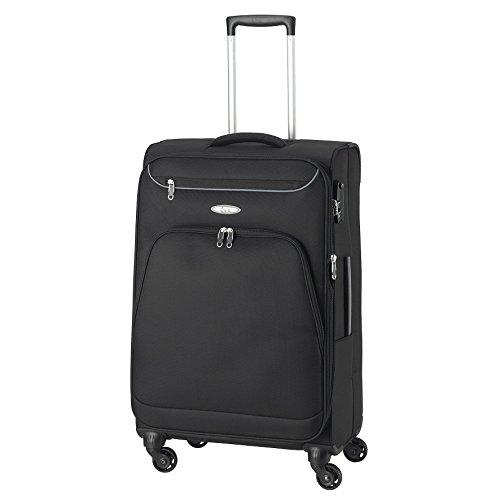 D&N Travel Line 6404 Koffer, 68 cm, 70L, schwarz